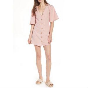 Topshop Angel Sleeve Shift Dress Pink NWT US 8